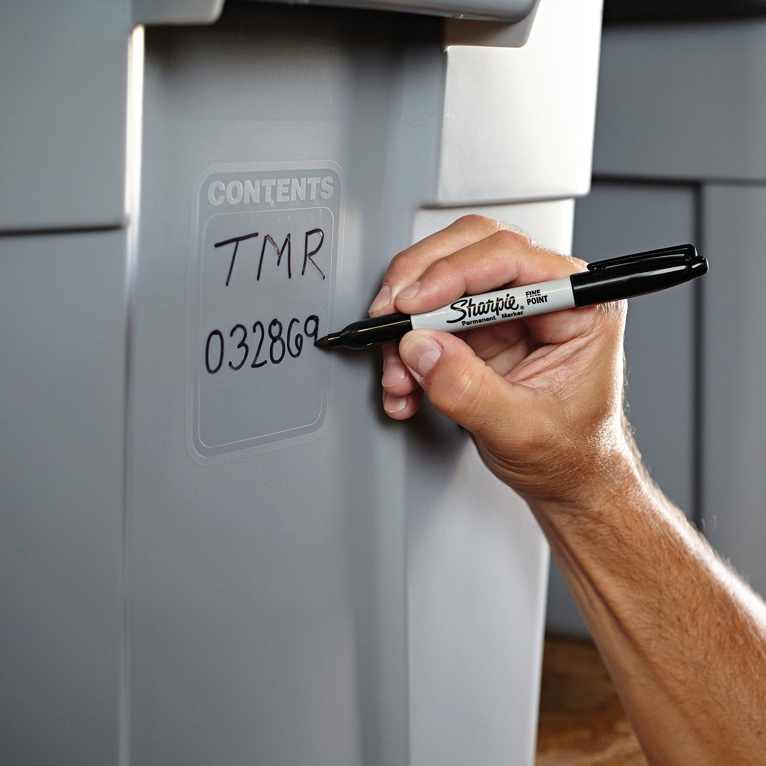 Sharpie Permanent Markers Fine Point Black 30665 for sale online