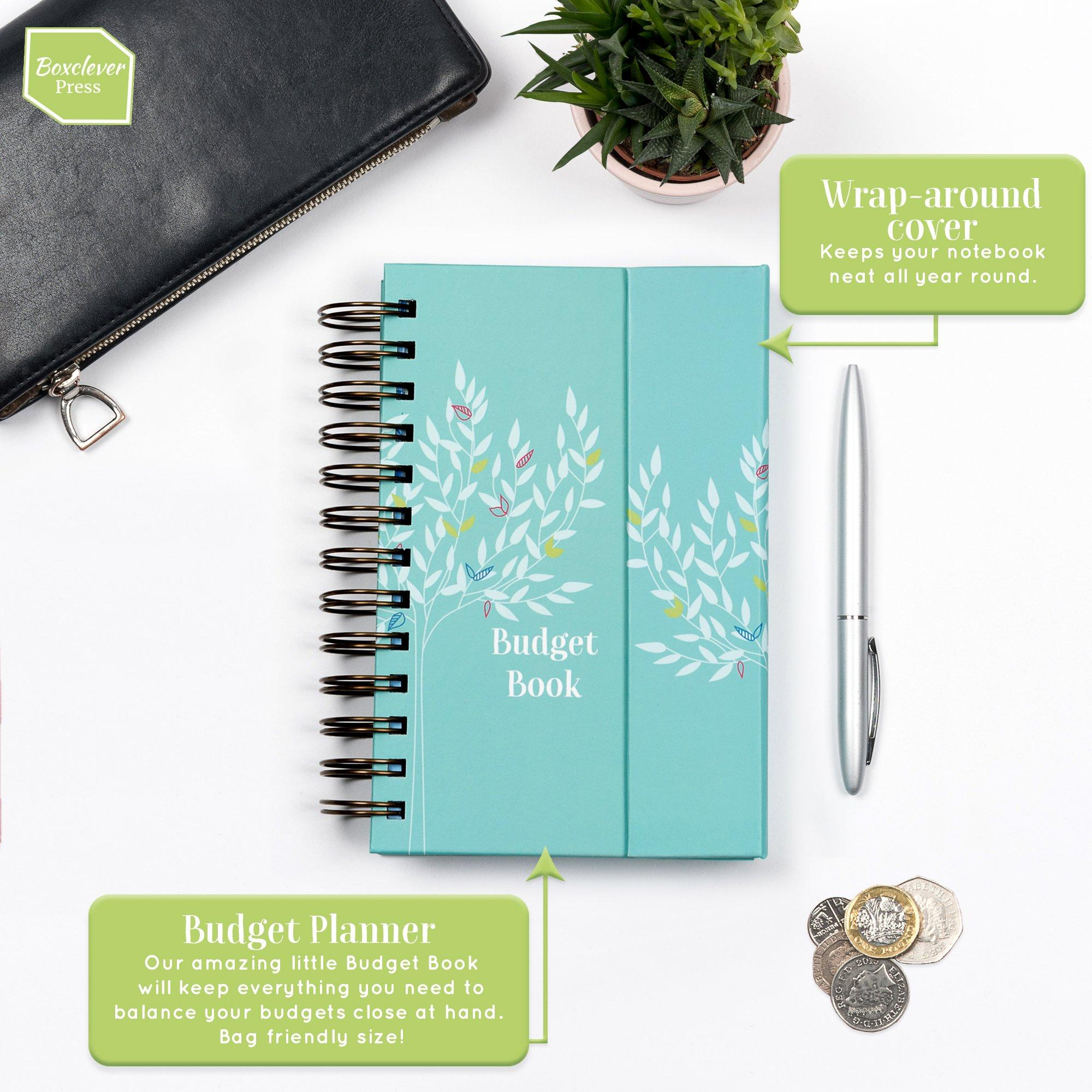 boxclever press budget book  monthly bill organizer  u0026 budget planner accounts